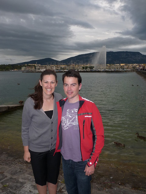 In Geneve with Naomi. Trents wife.