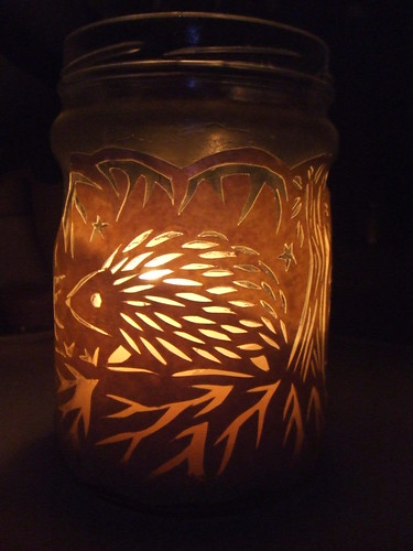 hedgehog jar lantern