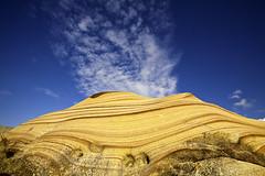 Little Volcano  (olvwu | ) Tags: morning sky cloud texture rock stone circle sandstone taiwan taipei seashore northeastcoast taipeicounty jungpangwu oliverwu oliverjpwu gungliau olvwu concentriccircle jungpang gungliautownship