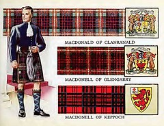 Clan MacDonald - tartans, old print