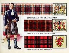 Clan MacDonald - tartans, old print