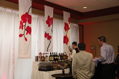 VIP cocktail lounge area at wedding reception