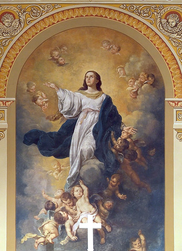 Saint Mary of the Barrens Roman Catholic Church, in Perryville, Missouri, USA - painting of the Assumption - 2