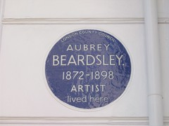 Photo of Aubrey Beardsley blue plaque