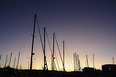 Lagos Harbour (Eastern Traveller) Tags: sunset portugal beautiful faro harbor sailing harbour yacht mast algarve masts