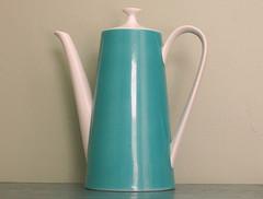 Vintage Teal Coffee Pot (Little Edith Bee) Tags: white coffee vintage germany tea teal retro artdeco etsy cottagestyle serving coffeepot shabbychic schonwald cottagechic etsynj littleedithbee
