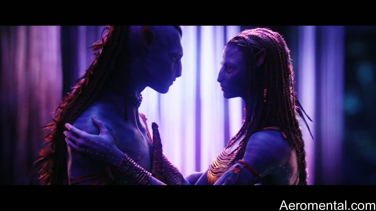 película Avatar beso navi