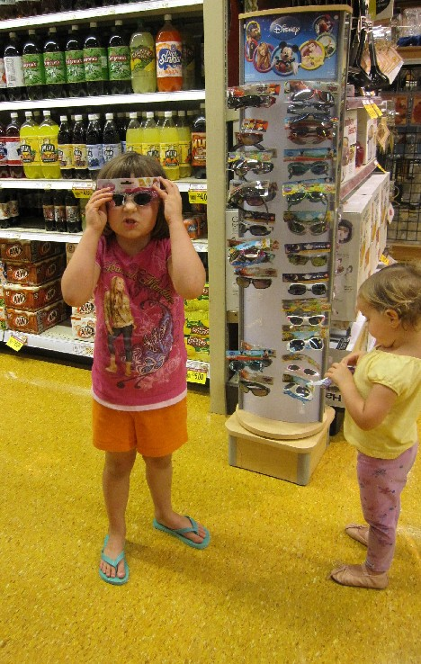 Ava with sunglasses