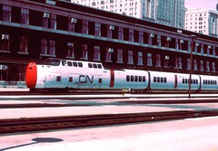 Turbo Train in original CN livery