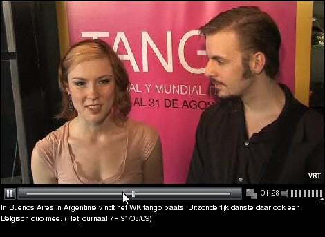 Belgisch koppel op de Mundial de Tango in Buenos Aires