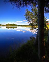 McCollum Lake HDR (hz536n/George Thomas) Tags: blue summer sky lake reflection michigan september mio canon5d upnorth 2009 smrgsbord oscoda cs3 comins ef1740mmf4lusm oscodacounty