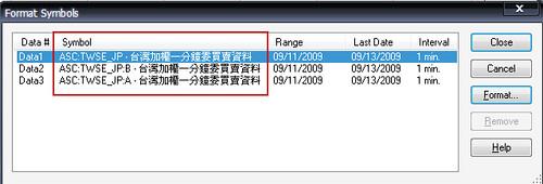 Tradestation 讀取 Symbol 資料源