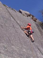 Looning the tube (Harris Hawks) Tags: rock climbing slate llanberis e1 5b quary looning thetune slatequarryclimbing