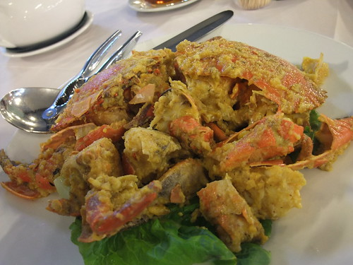 Stir-Fry Crab with Salted Egg Yolk