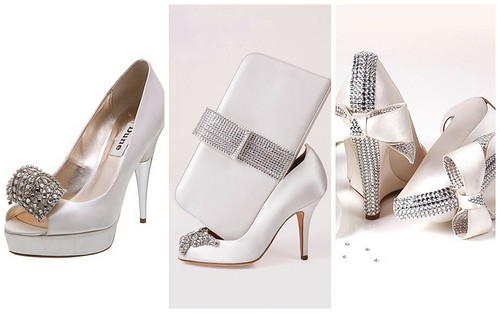 I love these embellished wedding shoes by Dune and Aruna Seth
