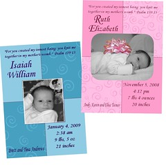Custom Photo Card Design - Birth Announcement