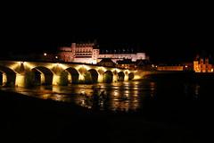 Château d'Amboise (Indre et Loire) (sybarite48) Tags: bridge france castle night ponte most pont brug brücke loire nuit château amboise köprü 桥 мост floodlighting جسر γέφυρα ブリッジ puante castlesoftheloire