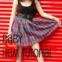 baby hem tutorial