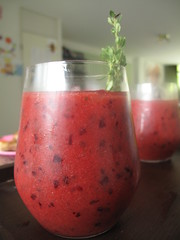 Plum and Lemon Thyme smoothie