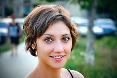 Ina (AragianMarko) Tags: portrait blur girl photoshop nikon raw burn adobe romania dodge ina effect vignette lightroom timisoara 18105  d90 labcolormode oravita aragianmarko