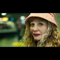 A stranger: montral subway, Anglina (Benoit.P) Tags: portrait woman art subway montral benoit montreal stranger concordia paille benoitp