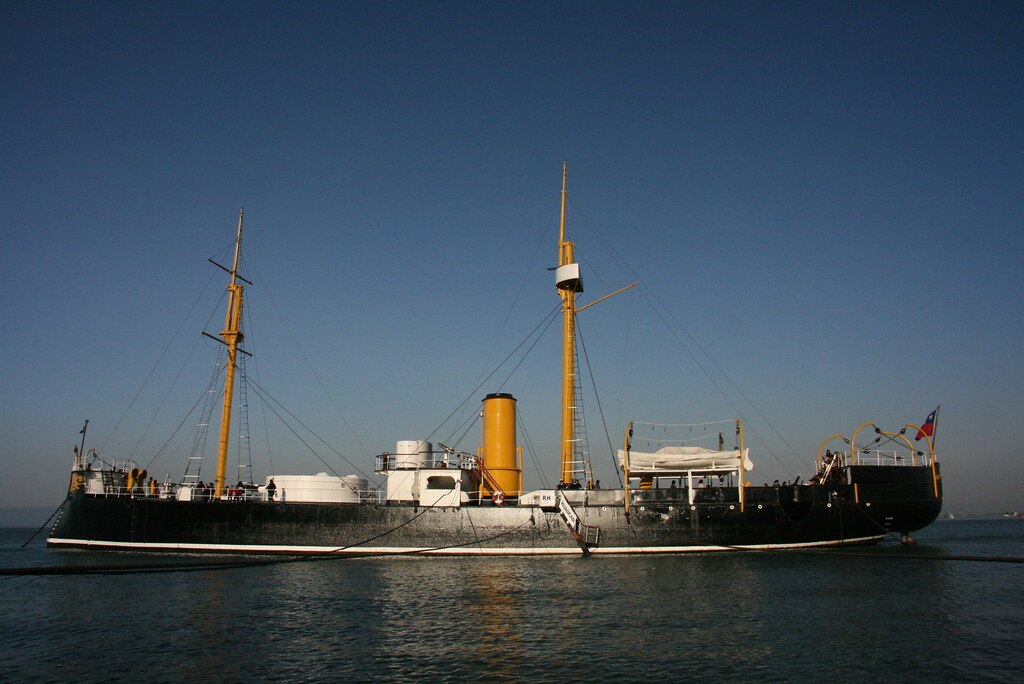 The Huáscar today, restored by the Chilean Navy and a prize of war