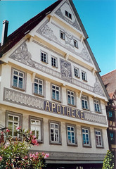 Pharmacy Nagold (flickrolf) Tags: city light sun film architecture germany fun olympus blackforest trip35 nagold