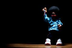 toy graffiti afro vinyl camouflage spraypaint hoodz strobist