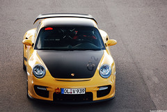 Yellow 997 GT2 Explored!! (Laurens Driest) Tags: summer netherlands car yellow club germany deutschland photography nikon shot angle 911 sigma automotive apo porsche tt laurens circuit 2009 supercar spotting oldenburg gt2 assen zoomlens 997 70300 d40 driest autogespot