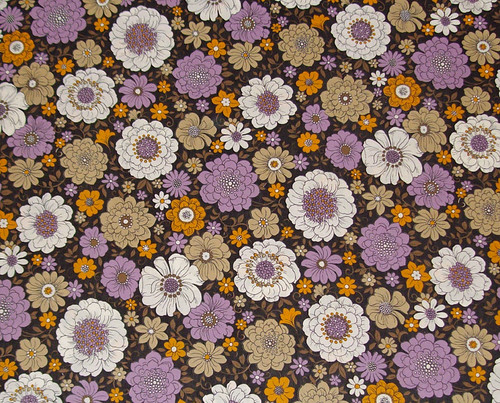 Sheridan Vintage Sheet Floral Black Purple Tan