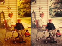 Mom & Me (Retouched) (Rob Boudon) Tags: photoshop mom mother 70s oldphoto retouch robboudon susanboudon