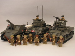 "Canadian 2nd Armoured Brigade (""Rumrunner"") Tags: infantry army ic gun tank lego brodie wwii helmet machine canadian 2nd ii prototype ww2 decal sten custom ram armour firefly worldwar2 brigade sexton mkii allies 1c armoured brickarms m1919 brickmania"