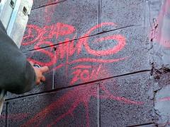 SandSeaSpray-Sunday 028 Dead Smug (digiphotology) Tags: streetart dead graffiti smug urbanart blackpool teaone seasandspray sandseaandspray sandseaspraysunday