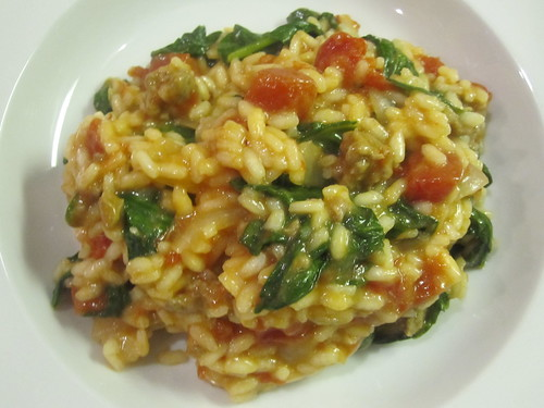 Tomato And Sausage Risotto Recipe — Dishmaps