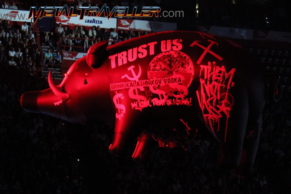 Inflatable Pig - Trust us... Drink drink kalashnikov vodka... Them not Us