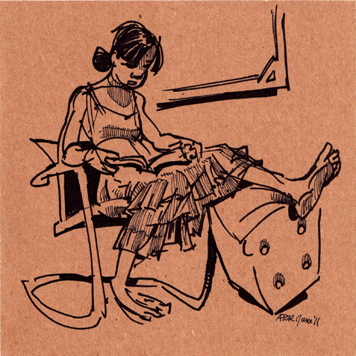 r8r, Figure 1049. Life drawing on found cardboard. Model Reading Bible, 2 of 4, 11. Juni 2011