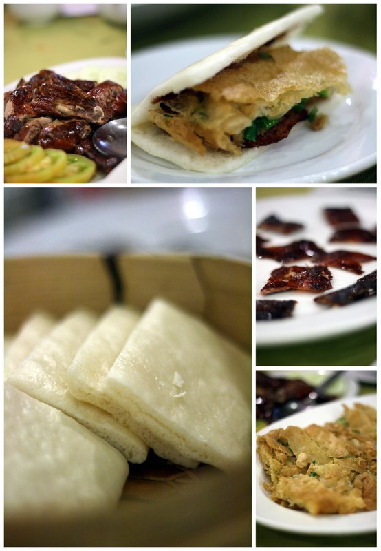 Roasted duck in chinese sandwich style