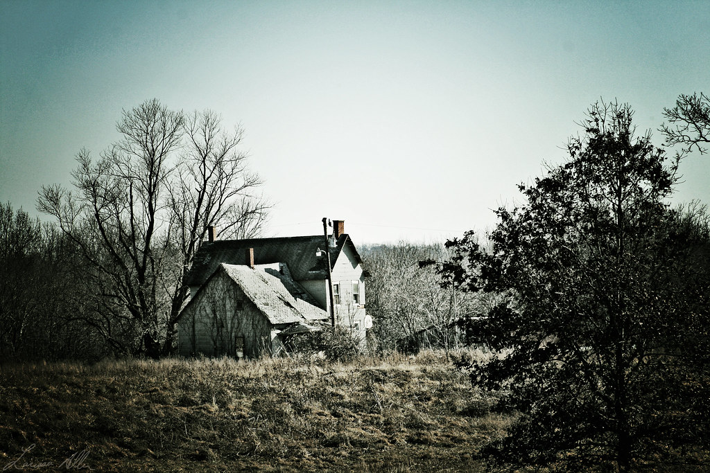 Creepy house in the hill