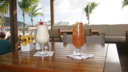 Piña colada and Rum Punch in the Caribbean