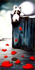 How Deep Is Your Love (Peter Smith Artist) Tags: cute art animal illustration painting naive popular showcase zeppo petersmith impossimal