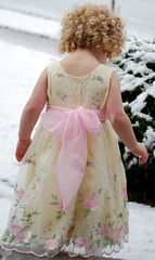 Holly playing in snow (tamalee) Tags: snow girl angel child dress holly pfogold pfosilver