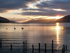 Loch Ness (again!) (Tracey Paterson) Tags: sunset sky water landscape scotland scenery highland loch lochness inverness