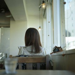 before meeting her... (miki**) Tags: 120 cafe destiny lovely freind firsttime minou rolleiflex35f