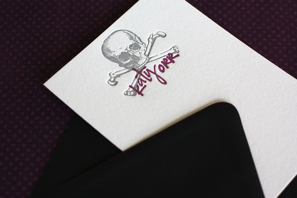 Letterpress Personalized Notes