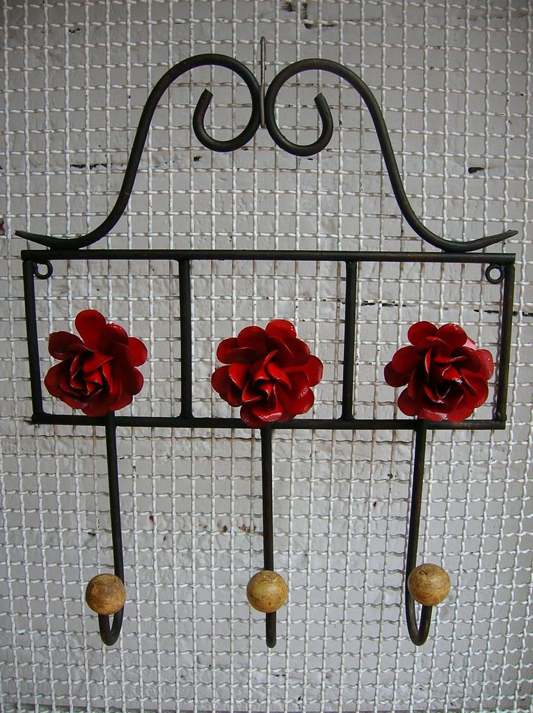 Gancho 3 flores Vermelhas