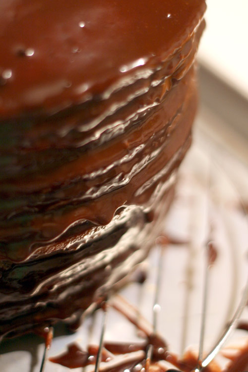 Chocolate covered cake