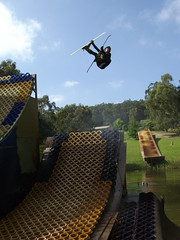 Water Jumping in Melbourne 2008 (Ramone Cooer) Tags: water freestyle ramp cooper ramone mogul flatspin