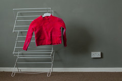 pink shrunken jumper (bluedust) Tags: pink stilllife 50mm14 minimal jumper washing d300
