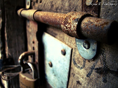Locked (Rayan M.) Tags: door photography rust lock perspective rusty m chain  rayan
