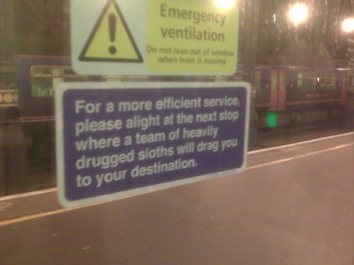 Spotted on the Gatwick Express by Fimb's friend